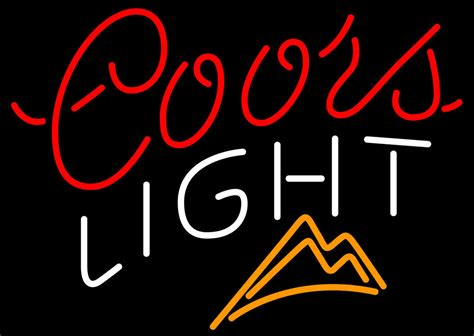 coors light neon sign coors light ice mountains neon sign neon