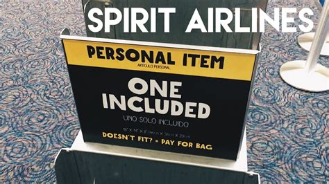spirit airlines personal item backpack spirit airlines free personal item new size 2017 youtube
