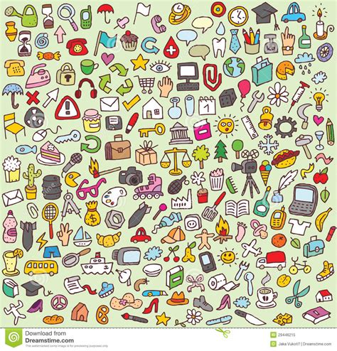 doodle icon free large doodle icons set royalty free stock photo image