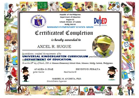 moving up certificate templates kindergarten diploma editable deped lp s