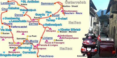 Wie Viele Motorradfahrer Gibt Es In Sterreich by Raonline Motorrad Schweiz Alpen Tour Von Landquart Gr