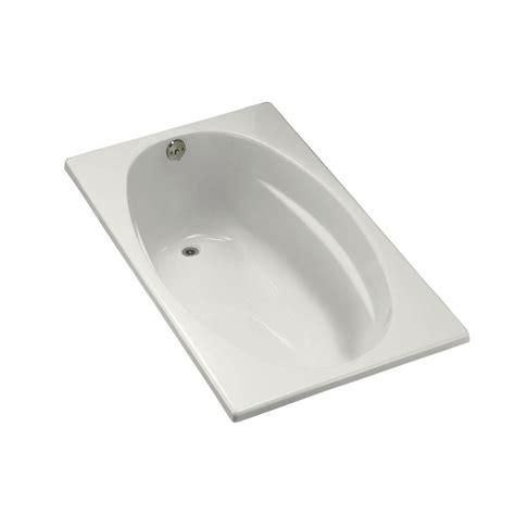 bathtub drain flange kohler mendota 5 ft right hand drain with integral