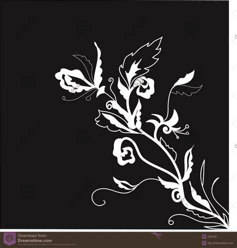 wallpaper batik hitam putih hd black and white floral illustration royalty free stock