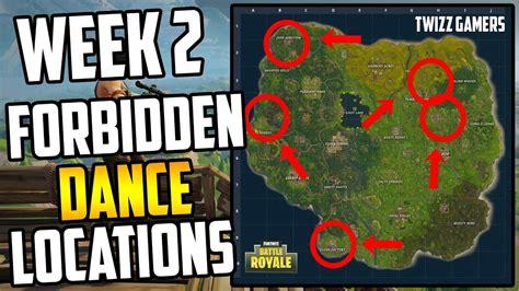 fortnite dance   forbidden locations week