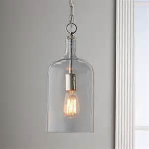 Clear Glass Pendant Lights For Kitchen Glass Jug Pendant Light