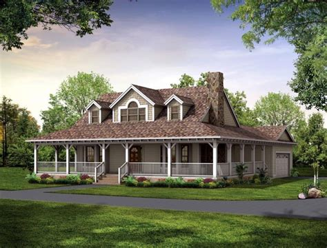 Fabulous Single Story House Plans With Wrap Around Porch 1 12 Story House Plans With Porch