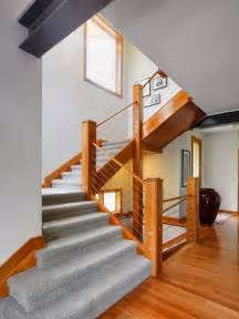 Contemporary Banister Cable Banister And Railing Ideas To Design The Staircase