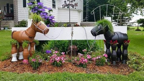 home decor framed horse print quot fair lawn quot plus diy yard art and garden ideas homemade outdoor crafts