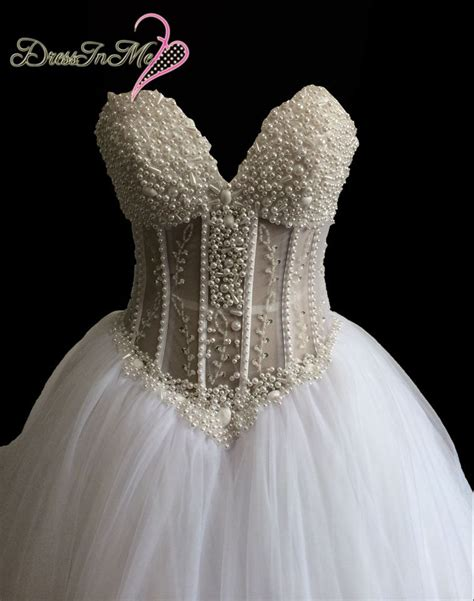 beaded corset wedding dress aliexpress buy pearl lace wedding best 28 images
