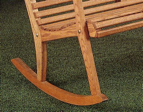 rocker bench 48 quot oak rocker garden bench