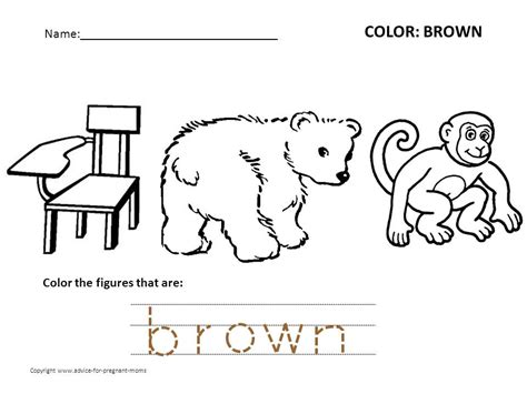 brown coloring pages preschool free preschool worksheets for learning colors advice for