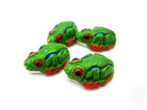 4pc green tree frog 8mm