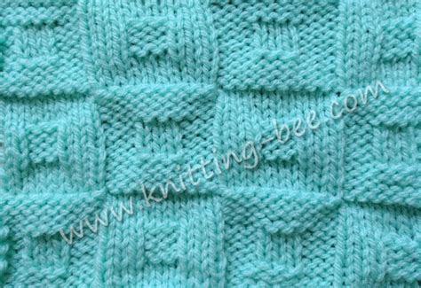 bee stitch knitting square in a square checkerboard knitting stitch knitting bee