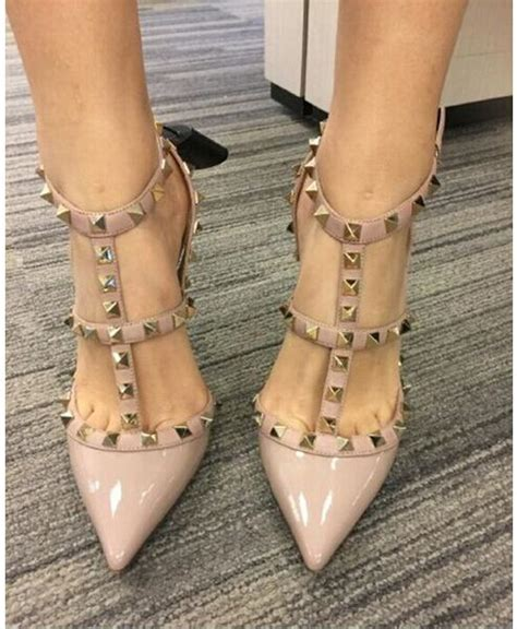 Sandal Big Heels Fladeo M 2 designer pointed toe multi studs high heels patent