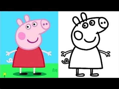 peppa pig colors and painting peppa pig painting peppa pig colouring