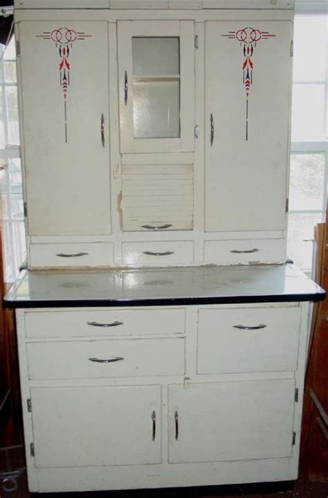 1940 s 50 s vintage hoosier cabinet with flour mill