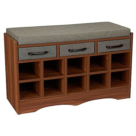 Entry Bench With Shoe Storage Buy Household Essentials 174 Entryway Shoe Storage Bench From Bed Bath Beyond