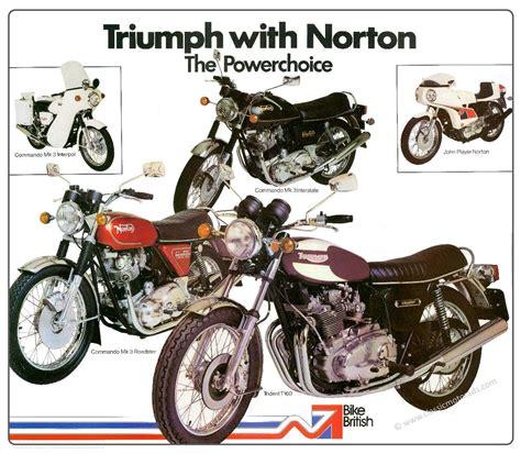 Triumph Motorrad Poster by Nvt Triumph Trident Norton Commando Poster By