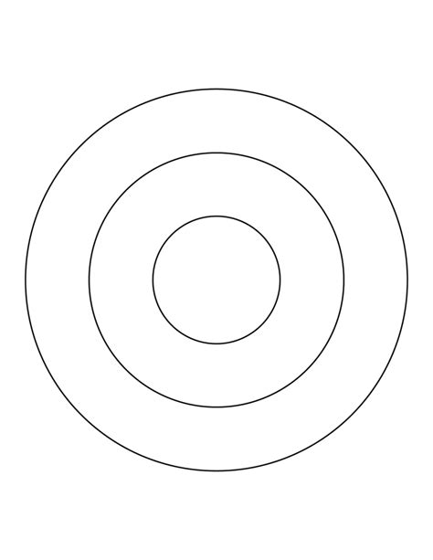 3 concentric circles clipart etc