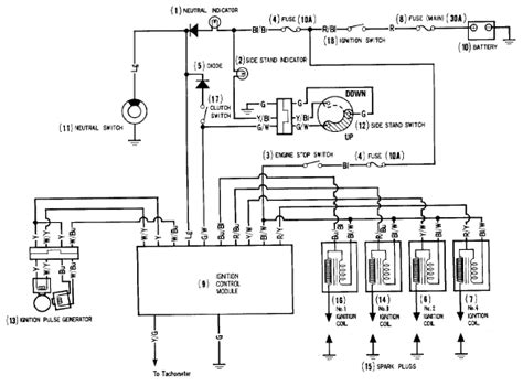 wiring diagram of automotive ignition system circuit and