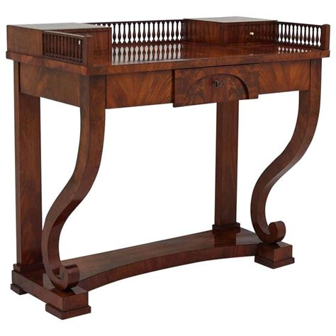 a fine neoclassical mahogany bench karl kemp antiques antique neoclassical scandinavian writing desk or vanity