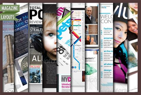 magazine templates for photoshop free 10 full magazine layout templates for indesign and