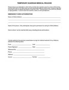 medical authorization form for grandparents for more medical release