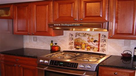 kitchen tile murals tuscan kitchen backsplash designs