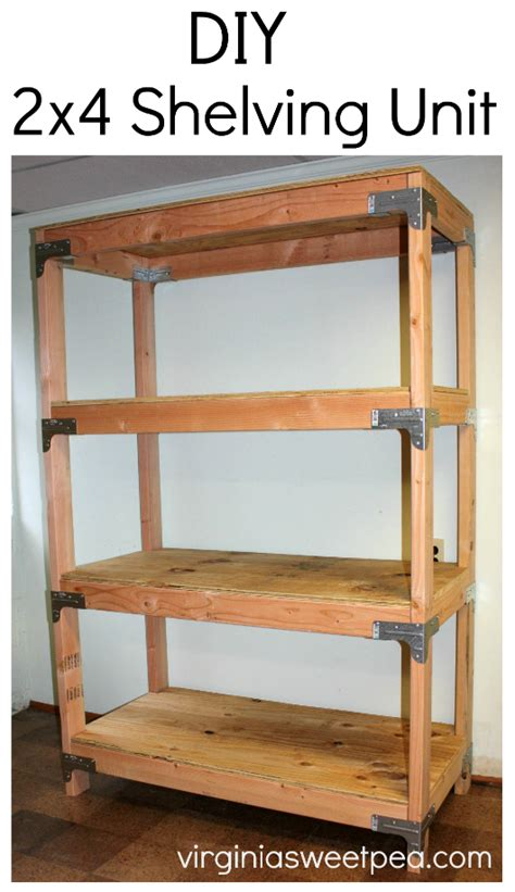 diy  shelving unit sweet pea