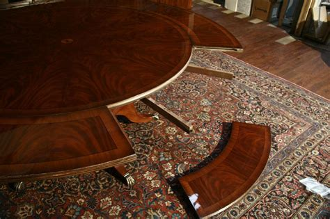 Dining Table Leaves perimeter table round dining table w perimeter leaves ebay