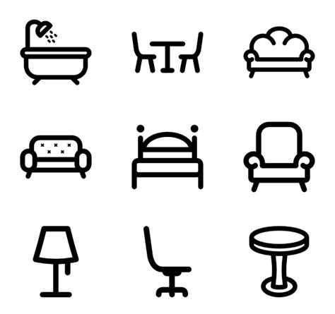 stuhl icon chair icons 3 051 free vector icons