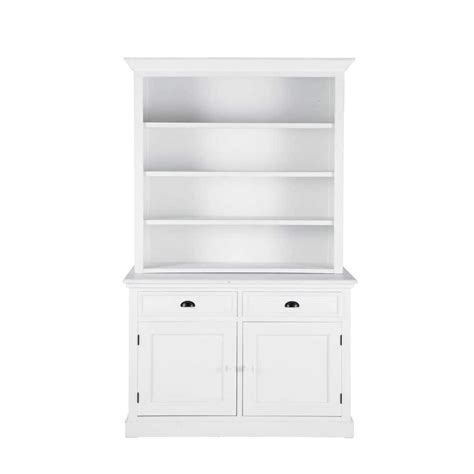 wooden bookcase in white w 130cm newport maisons du monde