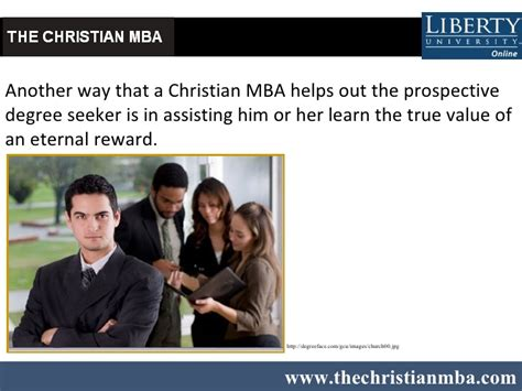 Mba Or Another by Enhance Christian Values With An Mba