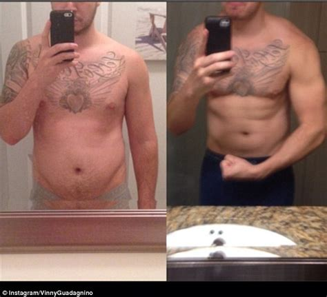 chest tattoo weight loss jersey shore s vinny guadagnino reveals results of 3 week