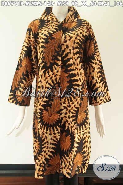 aneka tunik batik solo motif elegan model kerah