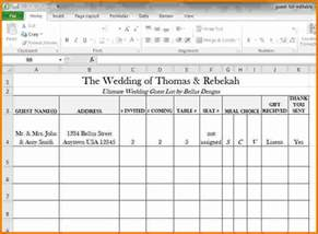 4 wedding guest list spreadsheet expense report
