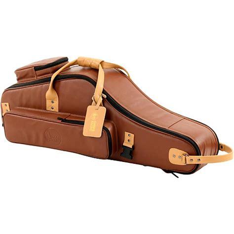 brown black designer leather tenor saxophone gig bag wwbw