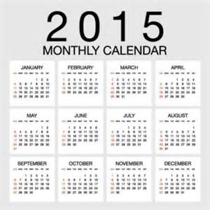 free 2015 yearly calendar template 70 creative vector 2015 calendar template cgvector