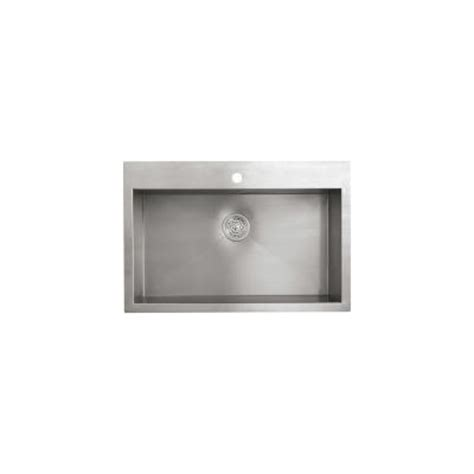 vault top mount single bowl stainless steel kitchen sink with kohler vault top or undermount stainless steel 33x22x9