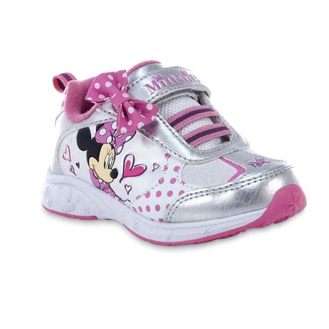 kmart toddler shoes disney toddler minnie mouse pink white silvertone shoe