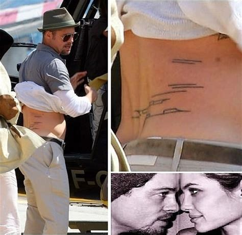 brad pitt tattoos 17 best images about with tattoos on