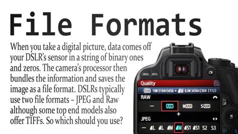 best format file for video best file format for shooting photos with dslr