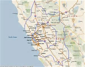 map of central and northern california northern california quotes like success