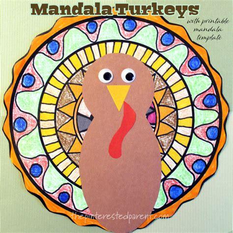 mandala turkey craft  printable template