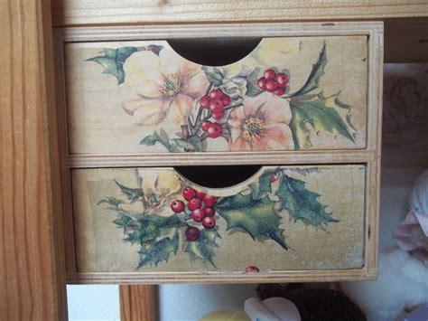 Collage Papier Sur Bois by Tiroir En Bois D 233 Cor 233 De Serviette De Table En Papier