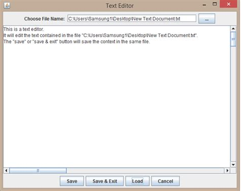 design text editor in java programs for fun a text editor made in java using gui