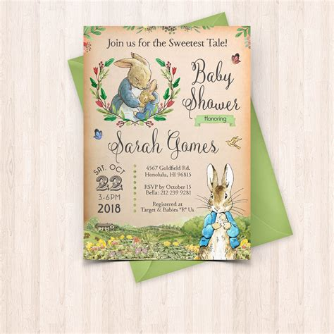 Rabbit Baby Shower Invitations by Printable Rabbit Baby Baby Shower Invitation Free