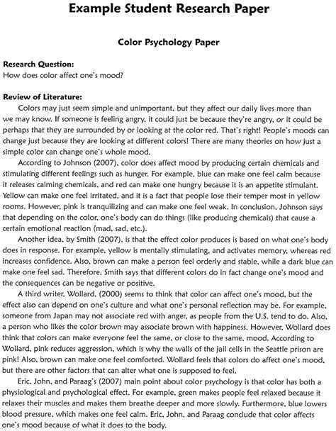 cover page for research paper samples of essay outlines essay