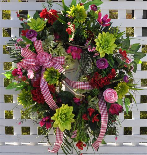 Summer Front Door Wreaths Wreath Summer Front Door Wreaths Pink By Redbarnwreath