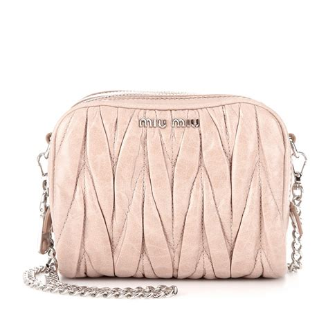 Miu Miu Small Shoulder Bag by Miu Miu Matelass 233 Leather Mini Shoulder Bag In Pink Lyst